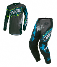 O`Neal ELEMENT Youth Jersey  & Pant Combo VILLAIN gray